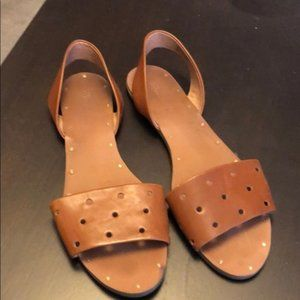 Tan Madewell Slingback Sandals